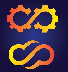 Infinite gear logo vector