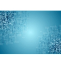 Blue tech squares texture background vector