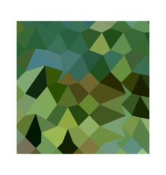 Dark spring green abstract low polygon background vector