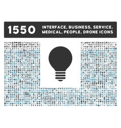 Electric bulb icon and more interface business vector