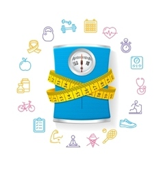 Bathroom Scale Fitness Concept vector image