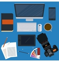 A workplace designer vector