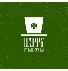 St patricks day flat card design vector