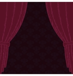 Red curtain retro shop poster vector
