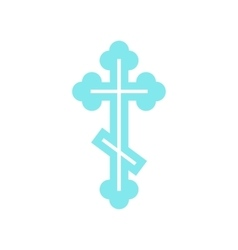 Orthodox cross icon flat style vector