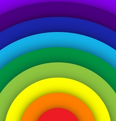 Abstract rainbow curve background vector