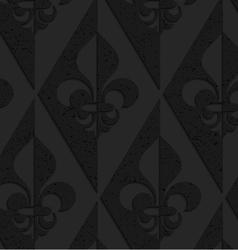 Black textured plastic fleur-de-lis half and half vector