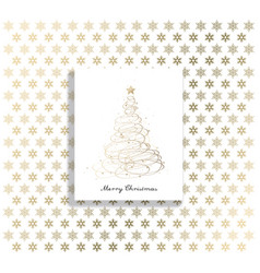 christmas background with christmas tree and vector image vector image