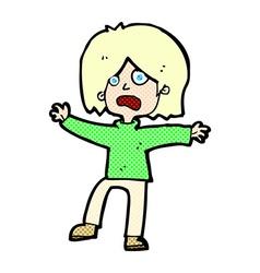 Comic cartoon unhappy person vector