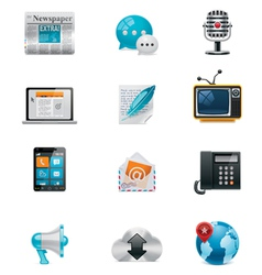 communication and social media icon set 1 vector image vector image