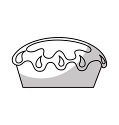 Delicious sweet pie icon vector