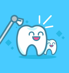Dentistry banner cleaning teeth vector