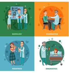 Doctors and patients design concept vector