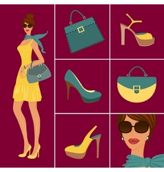 fashion items vector image