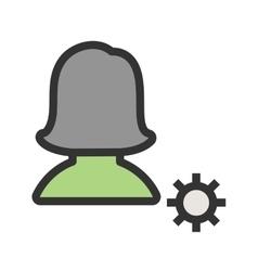 Female profile settings vector