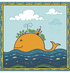 fish island vector image