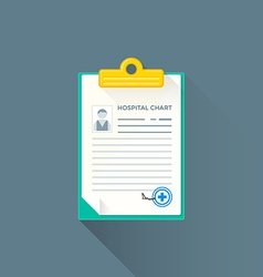 flat hospital chart icon vector image