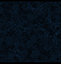 floral seamless pattern black and blue vector image vector image