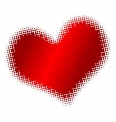 halftone heart vector image vector image