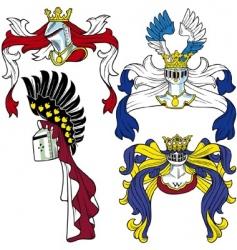 heraldic helmets vector image