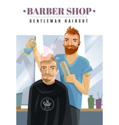 Hipster barbershop vector
