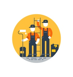 House painting workers construction people vector image vector image