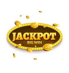 Jackpot gambling retro banner decoration Business vector image vector image