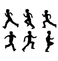 Kid running vector