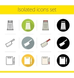 Kitchen tools icons vector