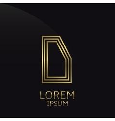 Letter d logo vector