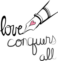 Love conquers all vector