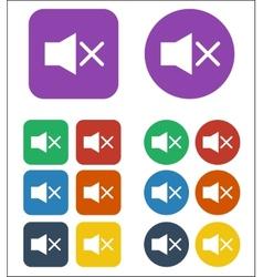 Mute sound icon vector