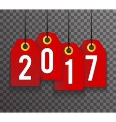 New Year 2017 Text Symbol Labels Icon Transperent vector image