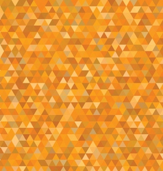 orange triangles pattern vector image vector image