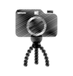 photo camera pictures tripod icon vector image vector image