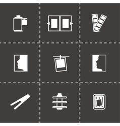 Photo icon set vector