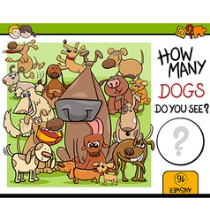 preschool counting task with dogs vector image