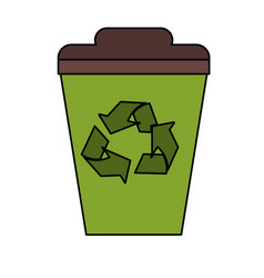 Recyclable icon image vector