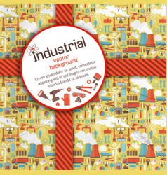 Round placard on industrial background vector