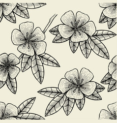 Seamless flower of fruit tree vector