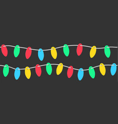 set of paper christmas lights vector image vector image