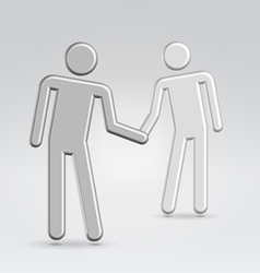 shake hands deal vector image
