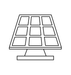 Solar panel eco freindly related icon image vector