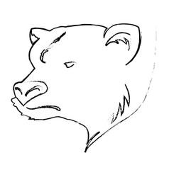 stock market bear vector image vector image