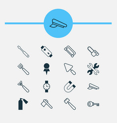 Tools icons set collection of password putty vector