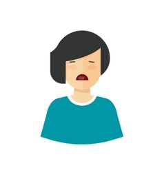 Unhappy woman crying upset girl with sad vector image vector image