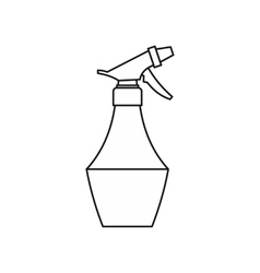 Water spray bottle icon outline style vector