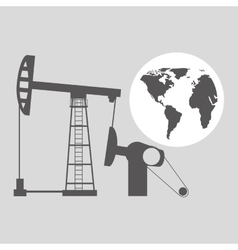 World oil industry consumption pumping tower vector