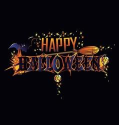 Happy halloween greeting inscription vector