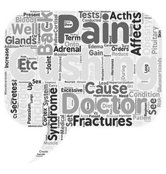 Back pain and hypercortisolism text background vector